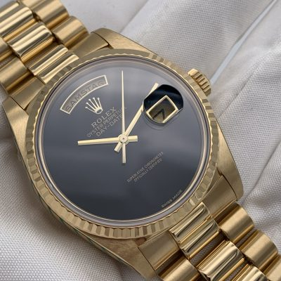 Rolex Day-Date 18238 Onyx Box & Papers LC 100 1994
