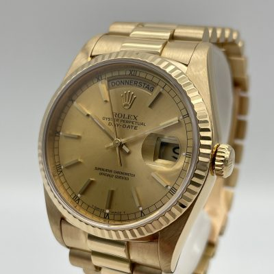 Rolex Day Date 18238 Champagner LC 100 1995