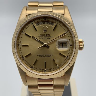Rolex Day-Date 18238 Champagner 1996 Service 04/2021