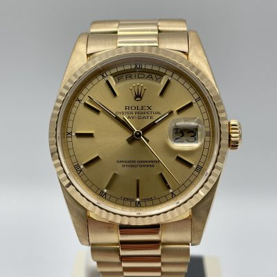 Rolex Day Date 18238 Champagner 1989