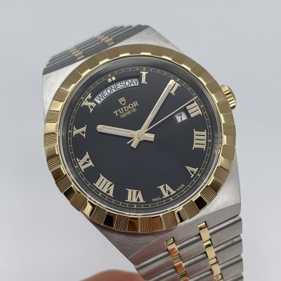 Tudor Royal Day-Date 28603 Black Dial 41 mm Box + Papers NEW 07/2021