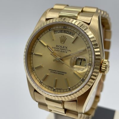 Rolex Day Date 18238 Champagner Box Papers 1990