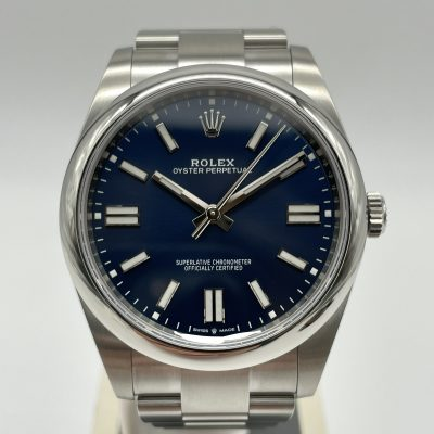 Rolex Oyster Perpetual 41 Blue 124300 NEW 09/2021