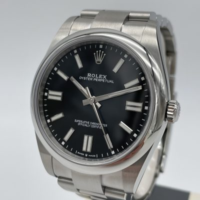 Rolex Oyster Perpetual 41 Black 124300 NEW 09/2021